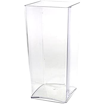 Amazon Homeford Fbb0vasq4410 Clear Acrylic Block Vase Display