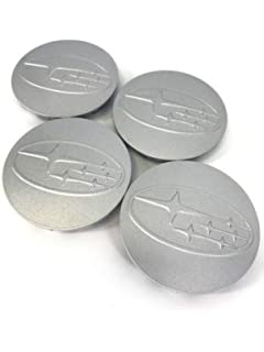 Silver Wheel Center Hub Caps Cover 4-pc Set Angel Mall Subaru 2.32 Outer Diameter 59mm
