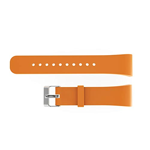 Wulidasheng Replacement Watch Band Strap,Soft Silicone Watch Strap Band Replacement for Samsung Gear Fit2 R360/Pro R365 Orange Large