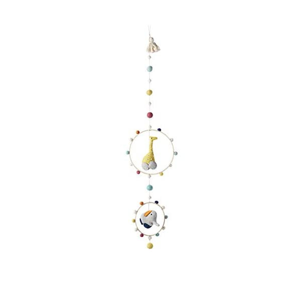 Pehr Pull Toys Hoop Mobile – Giraffe & Elephant, Multi