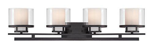 Designers Fountain 86104-BBR Fusion 4 Light Bath Bar