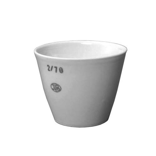 Vee Gee 52120-0701-5 Porcelain Crucible, High Form, Glazed Inside and Out, 120mL Capacity, 70 mm Outside Diameter, 56 mm Height