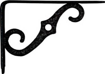 - National Mfg. N229393 Ornamental Shelf Bracket 5-Inch x 3-1/2 Inch, Antique Black