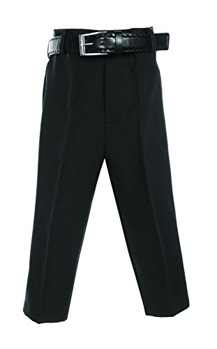 Avery Hill Boys Flat Front Dress Pants with Belt BK 7 by Avery Hill