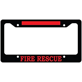 Amazon.com: Black Fire Rescue Red Line Thin Firefighter Fire Fighter ...