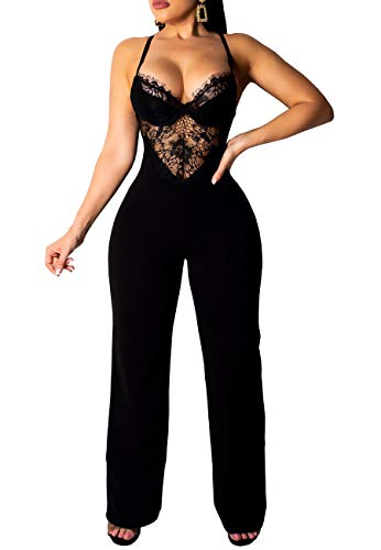 lace detail jumpsuit - 5