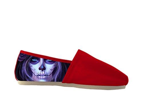 Het Canvas Casual Schoenen Van Vrouwen Met Dag Van De Dode Thema Casual Women Shoes01