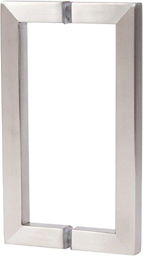 Rockwell 8 Back To Back Square Pull In Brushed Nickel Finish For