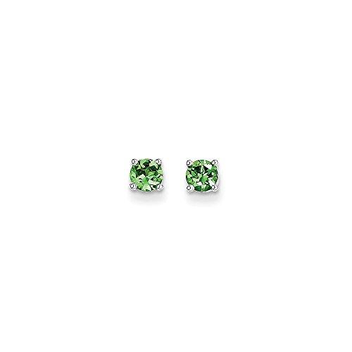 Tsavorite White Earrings - 2