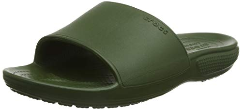 Crocs Classic II Slide Sandal, Army Green, 7 US Women / 5 US Men