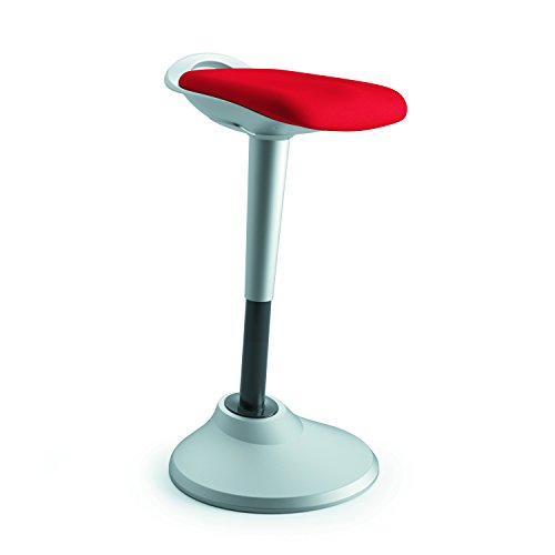 HON Perch Stool, Sit to Stand Backless Stool for Office Desk, Red (HVLPERCH)