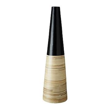 Amazon De Ikea Essig Deko Vase Bambus Schwarz 75 Cm