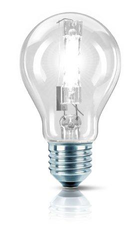 Philips 25255225 Ampoule halogène EcoClassic 30 haute brillance, forme lampe à incandescence, E27 A60 140W (Transparent)