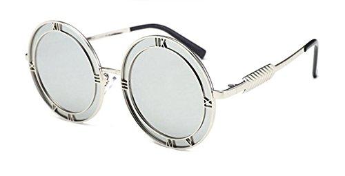 métallique de Mercure rond style inspirées vintage polarisées soleil Lennon Comprimés en de du retro cercle lunettes 7qw6HPZxf