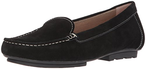 Blondo Women's Dale Waterproof Driving Style Loafer, Black Suede, 6.5 M US