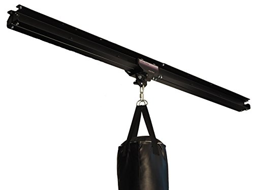 Firstlaw Fitness I-Beam Rolling Mount for Punching Bag & 8 Feet Rail Combo - BLACK Rolling Mount - Made in the USA by Firstlaw Fitness