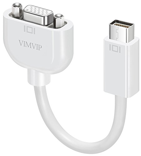 VIMVIP Mini DVI to VGA Adapter Cable for Macbook White