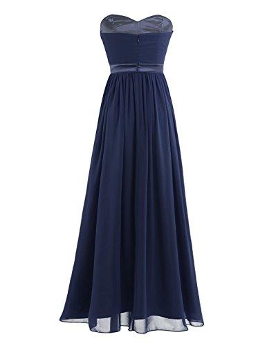 ... iEFiEL Elegant Damen Kleider festlich Cocktailkleid Chiffon Maxikleid  Lang Brautjungfernkleid Abenkleider für Hochzeit Gr. 34 ... 8fc6605db6