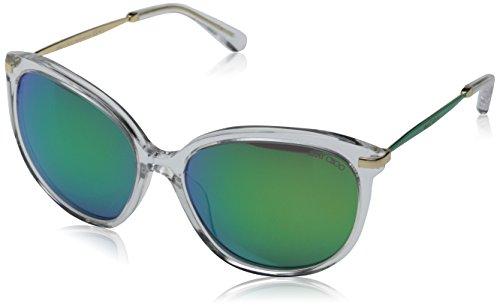 Jimmy Choo Women's Ives Mirrored Sunglasses, Crystal/Green, One - Choo Jimmy Sunglasses Crystals With