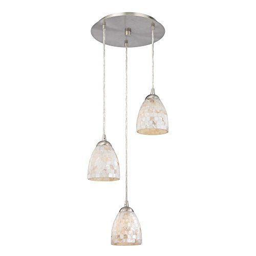 Multi-Light Pendant Light with Mosaic Glass and 3-Lights (Pendant 3 Light Tile)