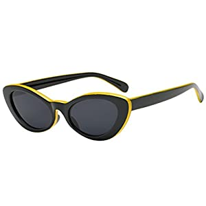 Women Man Sunglasses, Limsea Vintage Cat Eye Panelled Eyewear Retro Sunglasses
