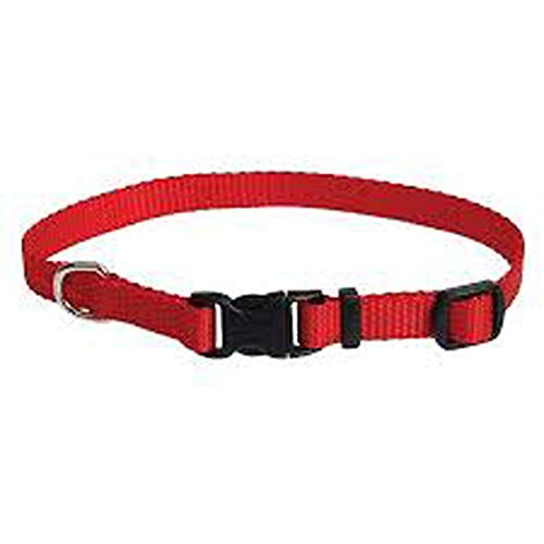 Coastal Pet Tuff Side Release Adjustable Dog Collar (Red, 14-20 Inch L x 3/4 Inch - Tuff Collar 0.75 Adjustable