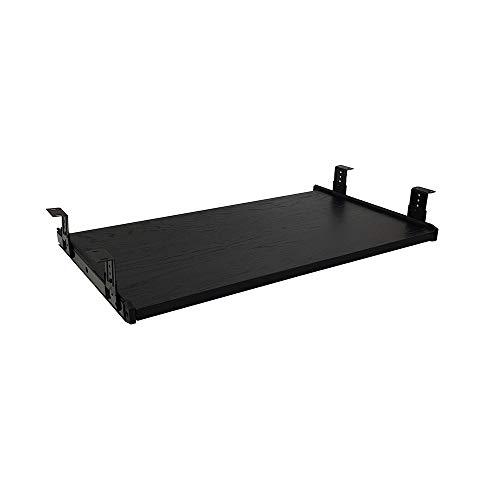 FRMSAET Furniture Accessories Office Product Suits Hardware 20inch Keyboard Drawer Tray Wood Holder Under Desk Adjustable Height Platform. (Small, Black) ()