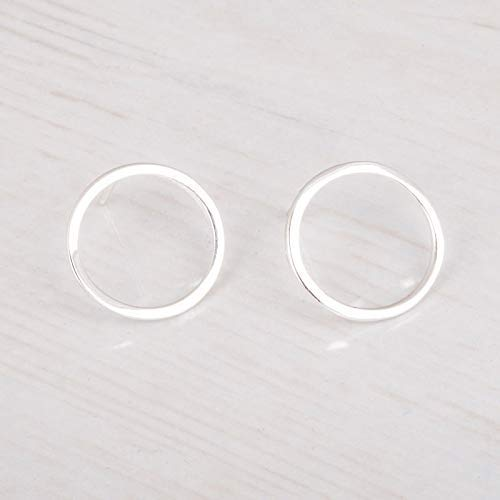 41eb64025 Sterling Silver Open Circle Earrings - Small Dainty Hoop Stud Earrings -  Designer Handmade