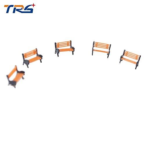 Sala-Ctr - 1:100 HO Scale Park Garden Bench Model Landscape Scenery abs plastic model chairs