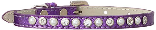 Mirage Pet Products Pearl and Jewel Ice Cream Collar, 14-Inch, Purple