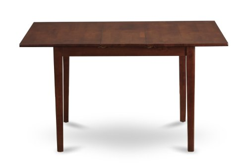 East West Furniture NFT-OAK-T Rectangular Dinette Kitchen Table with 12-Inch Butterfly Leaf (Extendable Room Dining Table)