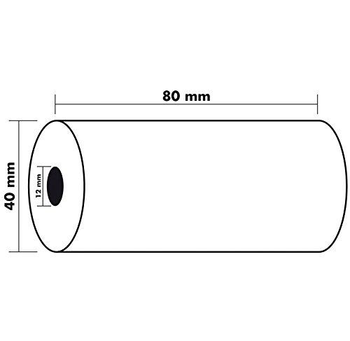 Exacompta 40920E - Bobina 1 pliegue térmico para caja, 10 unidades, 80 x 40 mm