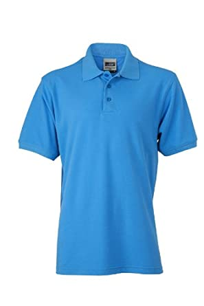 James   Nicholson Herren Poloshirt Polo Men s Workwear blau (Aqua) ... 7581488a2f