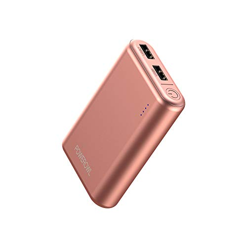 POWEROWL Portable Charger Smallest [7800mAh, Dual High-Speed Output, Universal] Lightest Power Bank External Battery Pack Compatible with iPhone iPad Samsung and More - Rose Gold ()