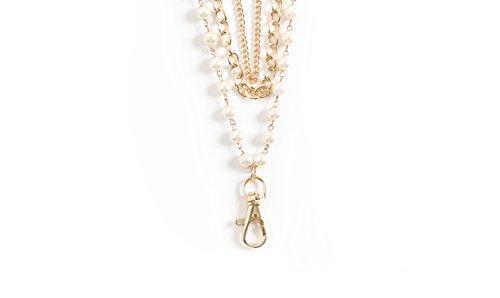 Sweet Fancy (Sarah Women's Layered Pearl Fashion Lanyard (Gold))