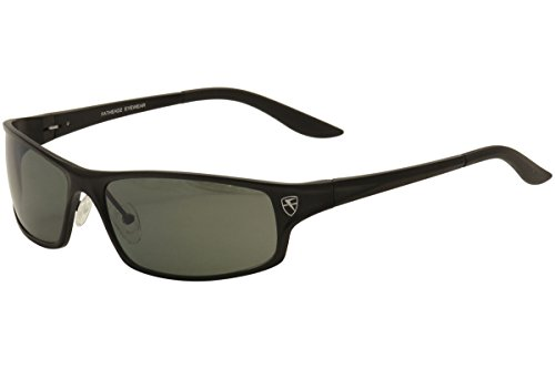 edcf815642 Fatheadz Eyewear Men s Knuckleduster Polarized Wrap Sunglasses