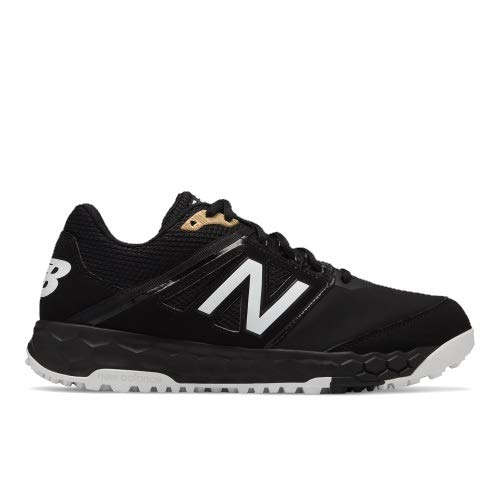 New Balance Men's 3000v4 Turf Baseball Shoe, Black, 11.5 D US