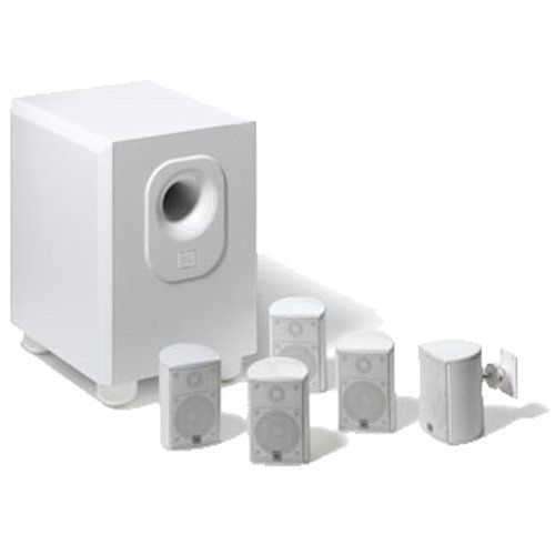Leviton AEH50-WH Architectural Edition Powered By JBL 5-Channel Surround Sound Home Cinema Speaker System, White (Renewed)