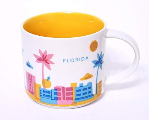 Florida Starbucks You Are Here Collection 14 Ounce Ceramic Mug (Starbucks Mugs Orlando)