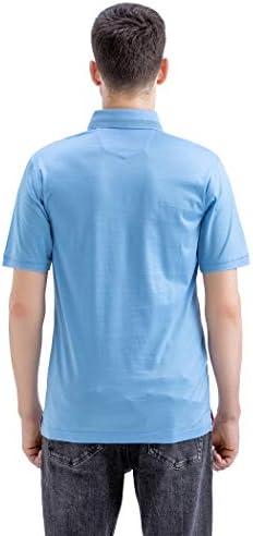 31T3ok2HPTL. AC M MAELREG Men's Mercerized Cotton Short Sleeve Pima Polo Shirts Casual Collared Shirts    Product Description