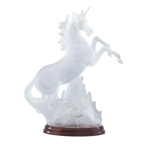 Gifts & Decor Frosted Unicorn Light Decorative Statue Rainbow - Light Unicorn Frosted