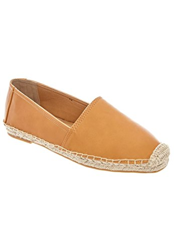 Comfortview Womens Wide Carlee Espadrilles Dark Tan