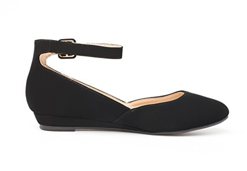 Dream Low Wedge Women's Shoes Strap Black Nubuck Flats Revona Pairs Ankle rrqwxnU