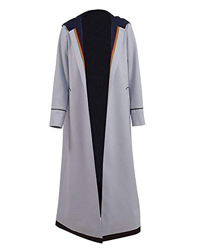 PONGONE Doctor Who 13th Cosplay Costume Long Trench Coat Shirt Pants Suits Full Uniform XL