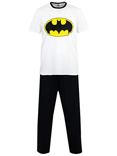 Batman Mens' DC Comics Pajamas Size Large White