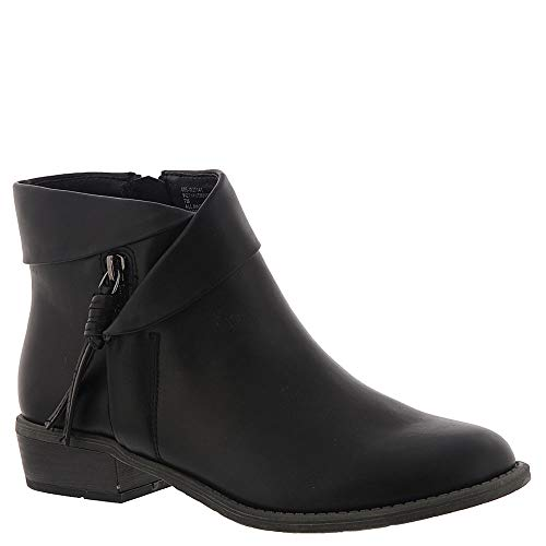 WHITE MOUNTAIN Women's Driver Ankle Boot, Black/Smooth, 9 M (Womens Mountain Ankle Boot)