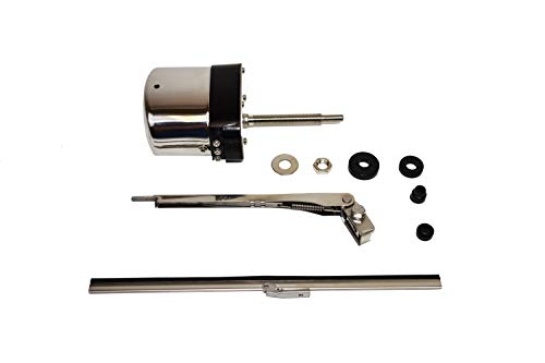 (A-Team Performance Stainless Steel Windshield Wiper Kit Universal Application 12V)