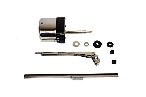 (A-Team Performance Stainless Steel Windshield Wiper Kit Universal Application 12V Motor)