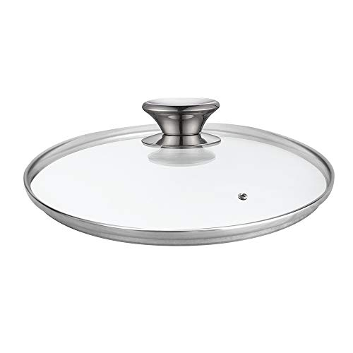 - Cook N Home 02574 Tempered Glass Lid, 12-inch/30cm, Clear