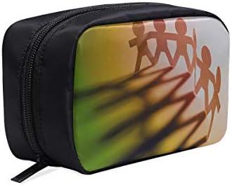 Bolsa de viaje para hombre Círculo Unir figura de papel Bolsa de cosméticos fácil Bolsa de viaje de moda Bolsa de hombre de moda Bolsas de cosméticos Estuche multifunción Bolsos de diseño
